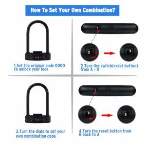 amazer bike lock instruction