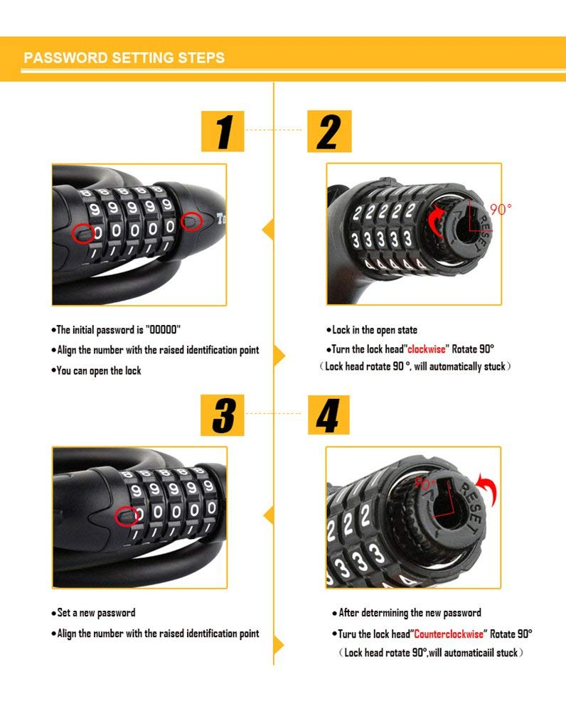 Tonyon bike lock instructions